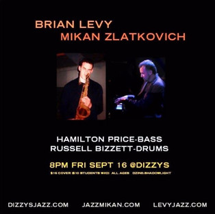 With Brian Levy, Hamilton Price & Russel Bizzett at Dizzy's