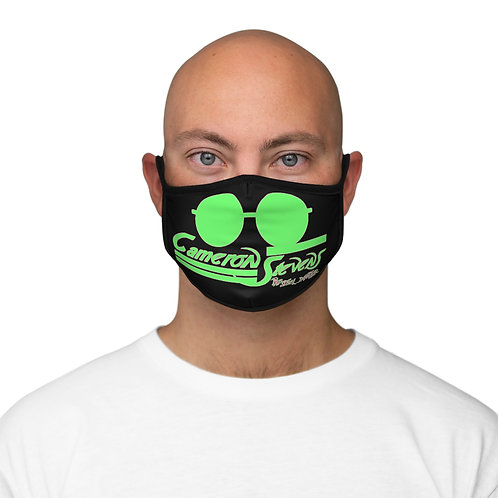 Cameron Stevens Glasses/Paint Fitted Polyester Face Mask