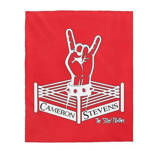 Cameron Stevens Rocker Ring Velveteen Plush Blanket