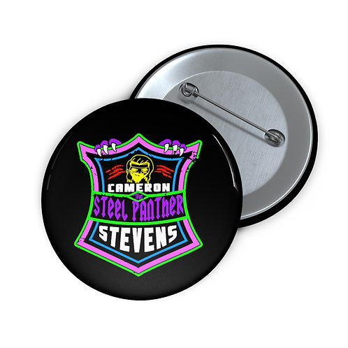 Cameron Stevens 'The Steel Panther' Shield Pin Buttons
