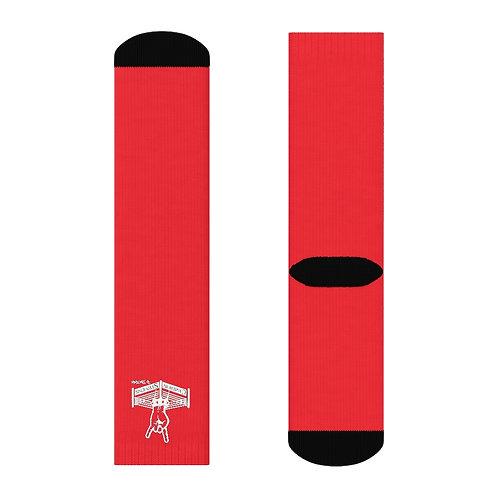 Cameron Stevens Rocker Ring Red Crew Socks