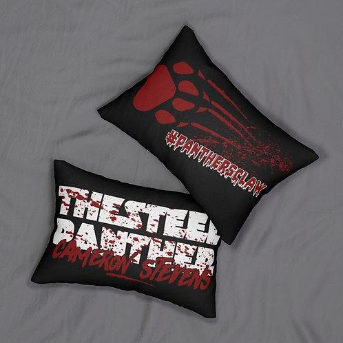 Cameron Stevens Blood Black Spun Polyester Lumbar Pillow