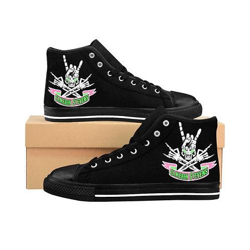 Black Cameron Stevens Skull Men's High-top Sneakers
