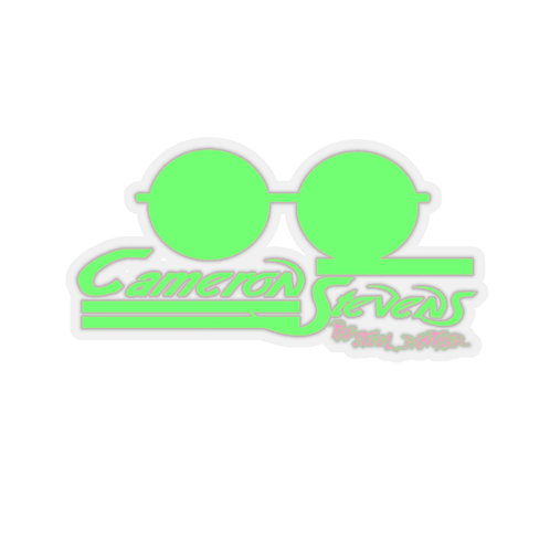 Cameron Stevens Glasses/Paint Kiss-Cut Stickers