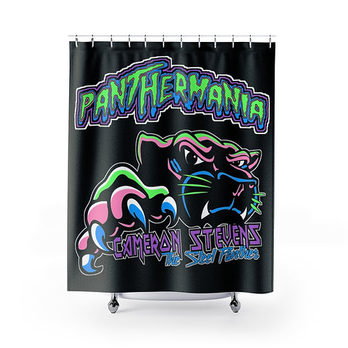Cameron Stevens PantherMania/The Steel Panther Black Shower Curtains