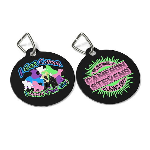 I Got Cubs/Claws Out Circle Pet Tag
