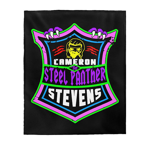 'The Steel Panther' Cameron Stevens Shield Velveteen Plush Blanket