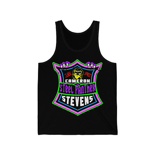 Cameron Stevens 'The Steel Panther' Shield Unisex Jersey Tank
