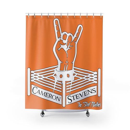 Cameron Stevens Rocker Ring Peach Shower Curtains