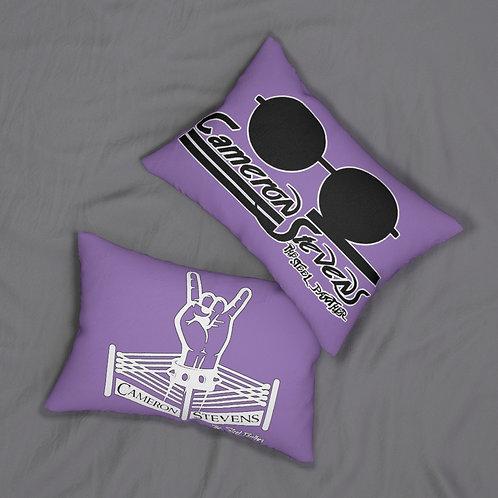 Cameron Stevens Rocker Ring/Glasses/Paint Purple Spun Polyester Lumbar Pillow