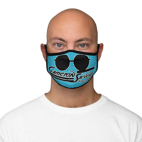 Cameron Stevens Glasses/Paint Blue Fitted Polyester Face Mask