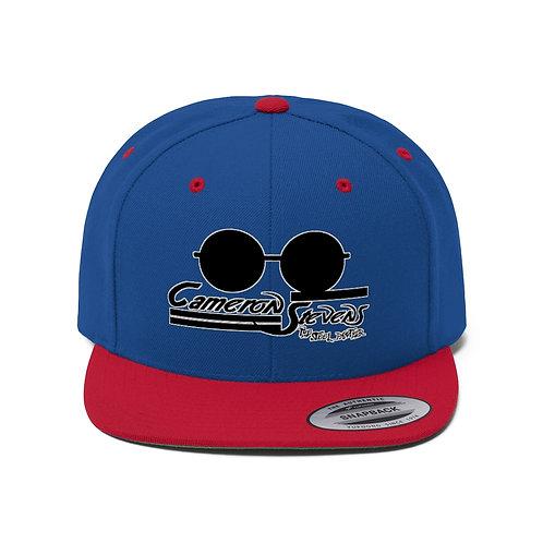 Cameron Stevens Glasses/Paint Unisex Flat Bill Hat