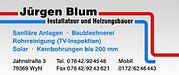 Jürgen Blum Installateur und Heizungsbauer