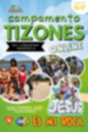 Cartel Campamento Tizones online 2020_lo