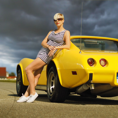 Fashion focení s Corvette