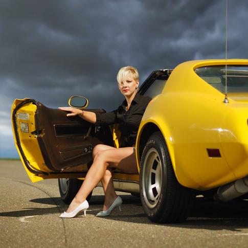 Fashion focení s Corvette
