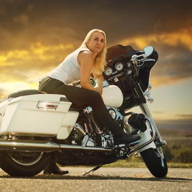 Focení s Harley