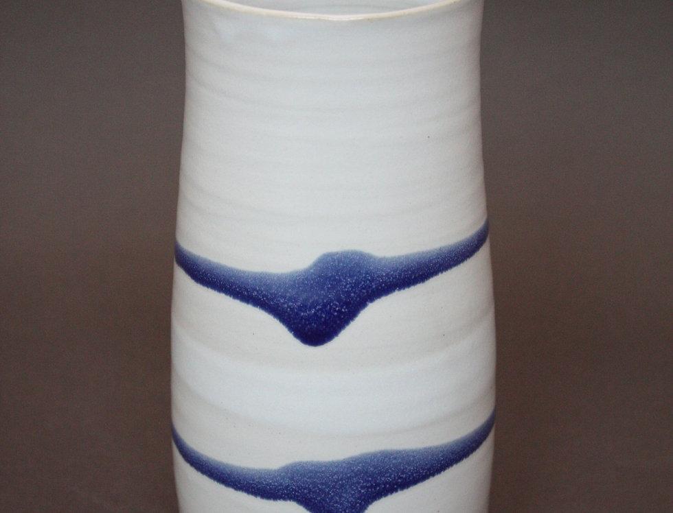 Vase ligne bleue
