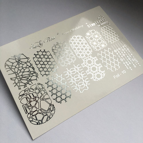 Series Foil Maxi серебро №10