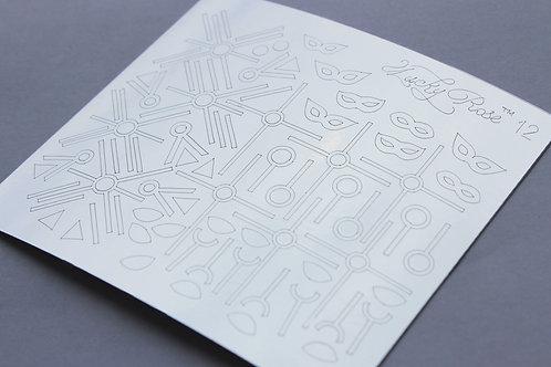 Metallized stikers №12 серебро