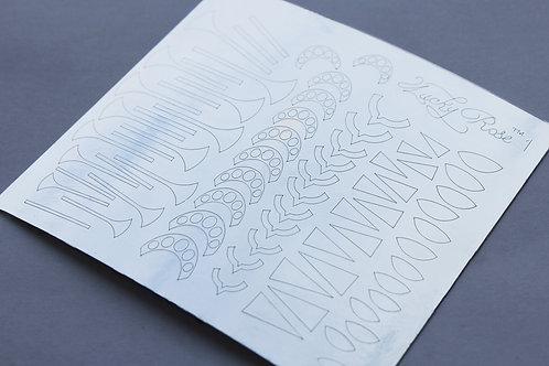 Metallized stikers №1 серебро