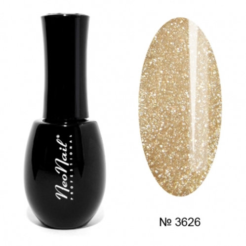 "Гель-лак 15мл ""Glitter Gold"" №3626"