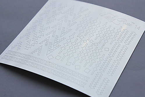 Metallized stikers №14 серебро