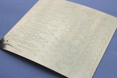 Metallized stikers №15 золото