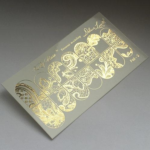 Series Foil золото №3