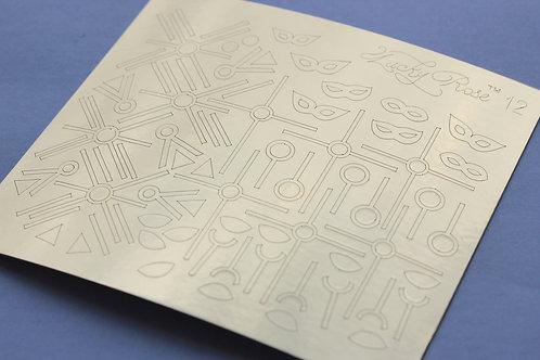 Metallized stikers №12 золото