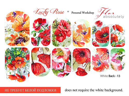 Series White Back №13