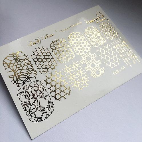 Series Foil Maxi золото №10