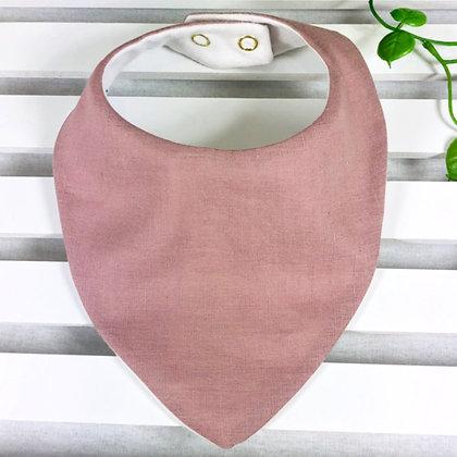 Handmade mauve colour baby bandana bib front view