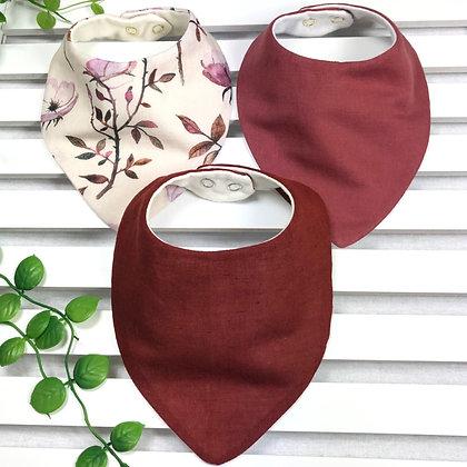 3 pack of handmade baby bandana bibs