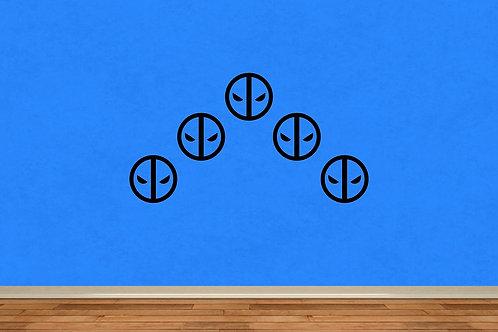 Dead Pool Logo set of 5 Decal