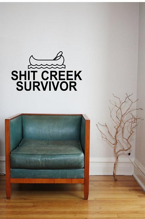 Sh*t Creek Survivor Decal