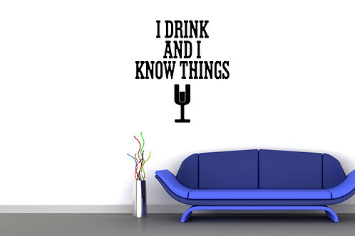 I Drink And I Know Things Game Of Thrones Decal
