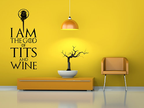 The God Of Tits And Wine Game Of Thrones Decal