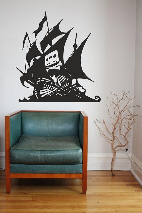 Pirate Bay Ship Decal