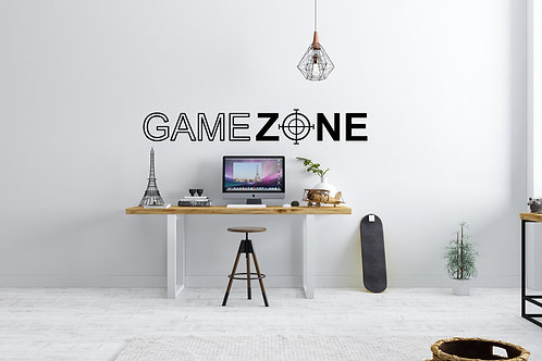 Game Zone Gaming Bedroom Wall Art Decal Vinyl Sticker