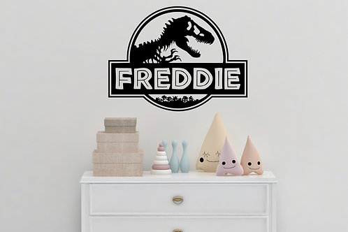 Personalised Jurassic Park Decal