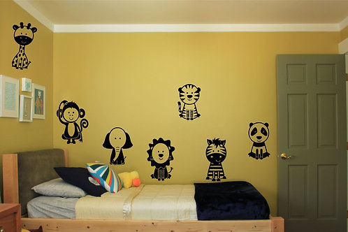 Set Of 7 Cute Animals Decal
