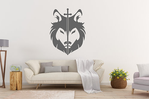 Dire Wolf With Sword Decal