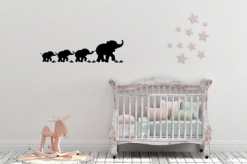 Elephant Family Inspired Childrens Kids Bedroom Wall Art Decal Vinyl