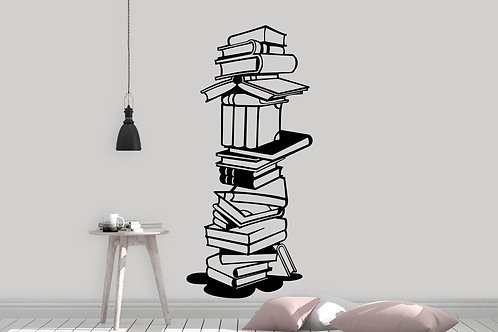 Book Tower Decal
