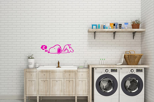 Snoopy Sleeping Decal