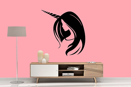 unicorn woman Decal