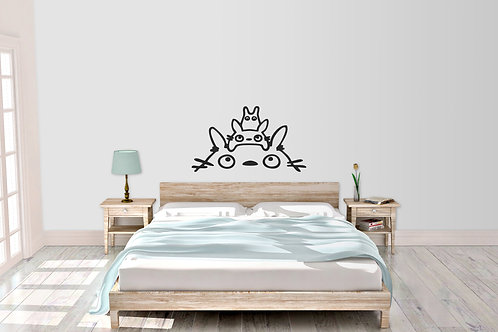 My Neighbour Totoro Head Anime Home Bedroom Wall Art Decal Sticker