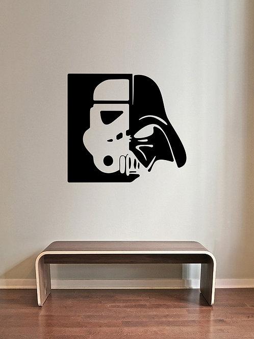Trooper Vader Head Star Wars Decals