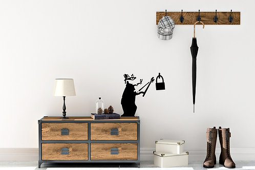 Banksy Rat With Cutters Graffiti Decal